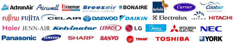 air conditioning brands serviced at BEE KOOL
